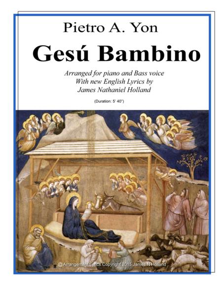 Gesu Bambino for Bass Voice and Piano with New English Lyrics