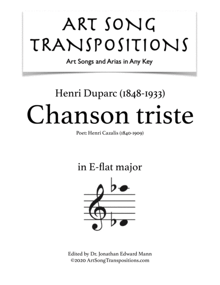 Chanson triste (E-flat major)