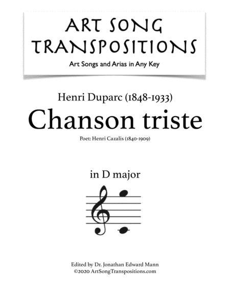 Chanson triste (D major)