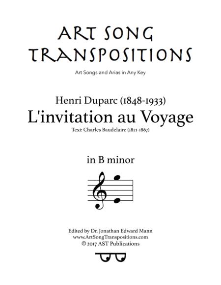 L'Invitation au voyage (B minor)