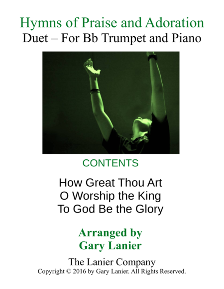 Gary Lanier: HYMNS of PRAISE and ADORATION (Duets for Bb Trumpet & Piano)