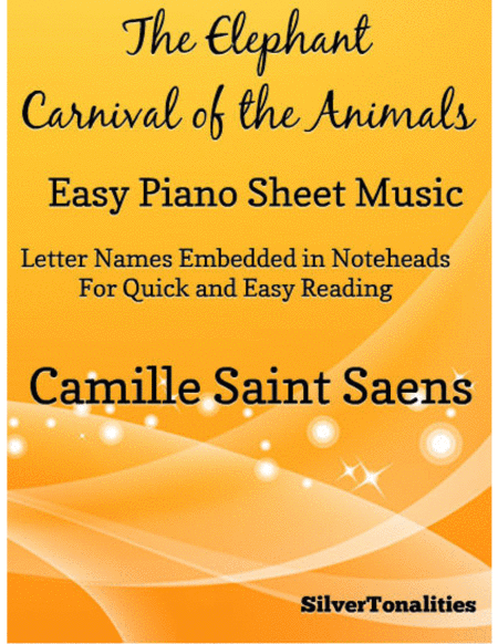 The Elephant Carnival of the Animals Easy Piano Sheet Music