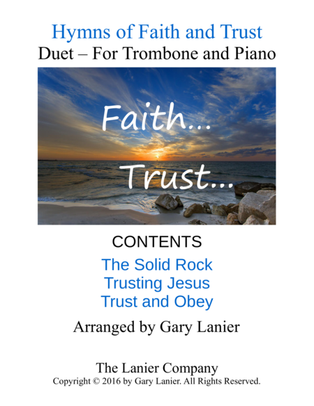 Gary Lanier: Hymns of Faith and Trust (Duets for Trombone & Piano)