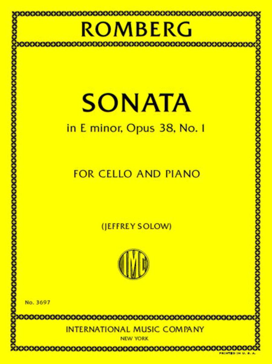 Sonata in E minor, Opus 38, No. 1