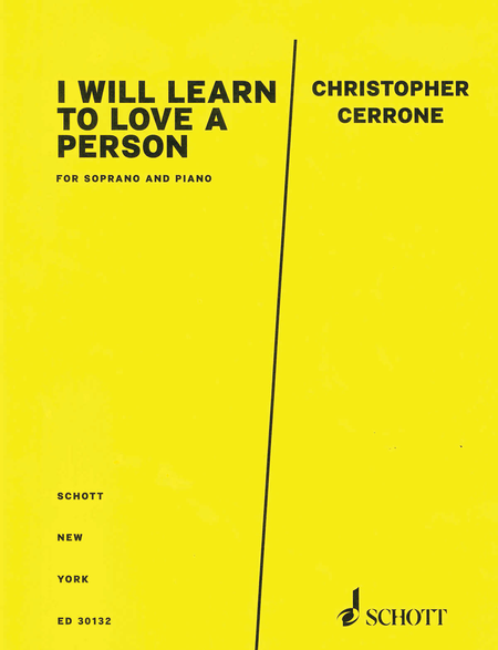 I Will Learn to Love a Person