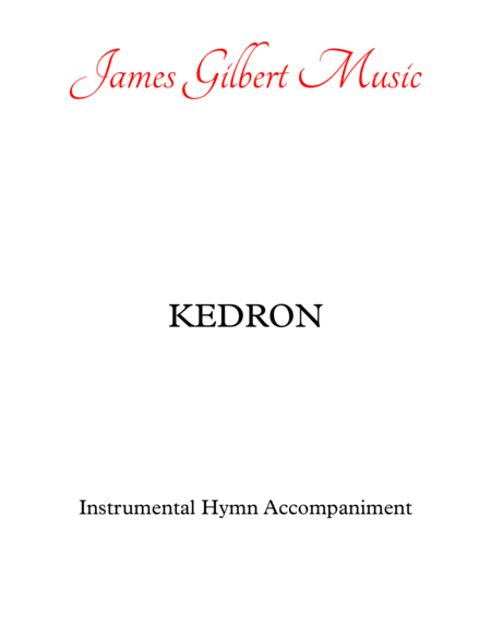 KEDRON (Creating God, Your Fingers Trace)