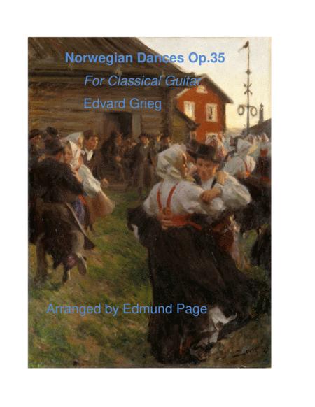 Norwegian Dances, Op.35 for Classical Guitar
