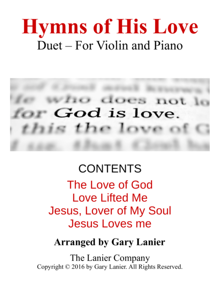 Gary Lanier: Hymns of His Love (Duets for Violin & Piano)