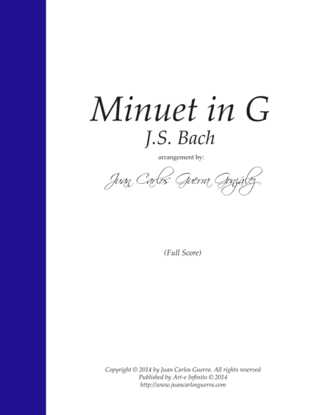 Minuet in G - J.S. Bach (arr. for Strings by Juan Guerra)