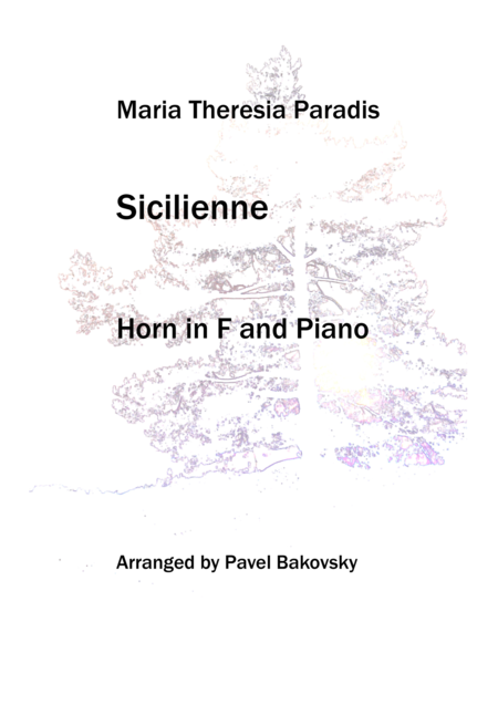 Sicilienne by Maria Theresia Paradis
