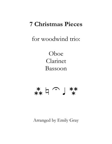 Christmas Trios for Oboe, Clarinet, and Bassoon