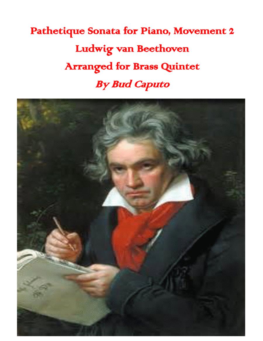 Beethoven Pathetique Sonata, Mov't. 2, arranged for Brass Quintet