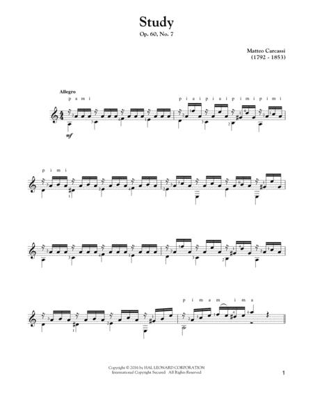 Study, Op. 60, No. 7