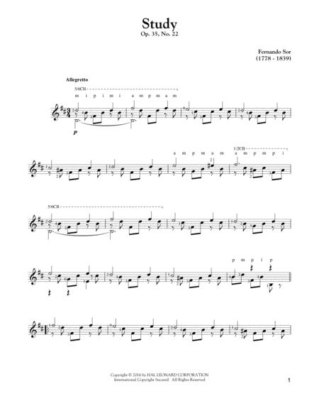 Study Op. 35, No. 22
