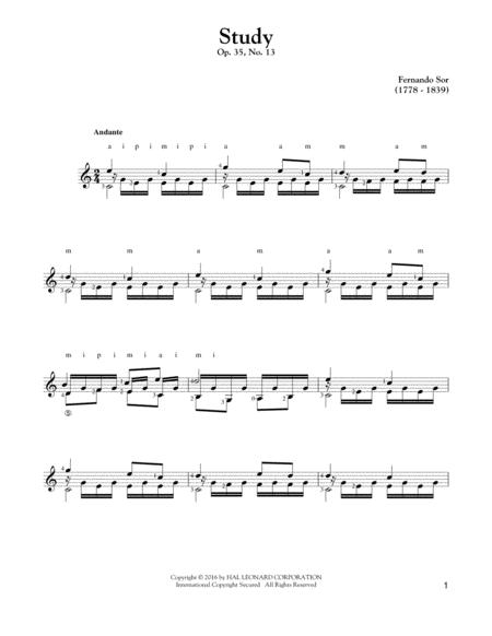 Study Op. 35, No. 13