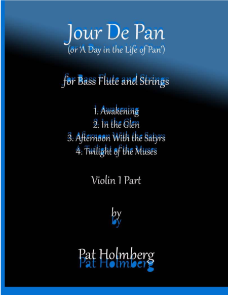 Jour de Pan (for bass flute and strings) - violin 1 part