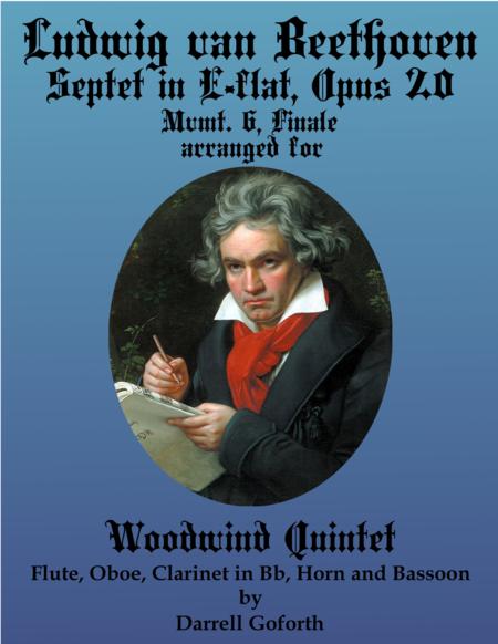 Beethoven: Septet in E-flat Major arranged for Woodwind Quintet, Mvmt. 6, Finale