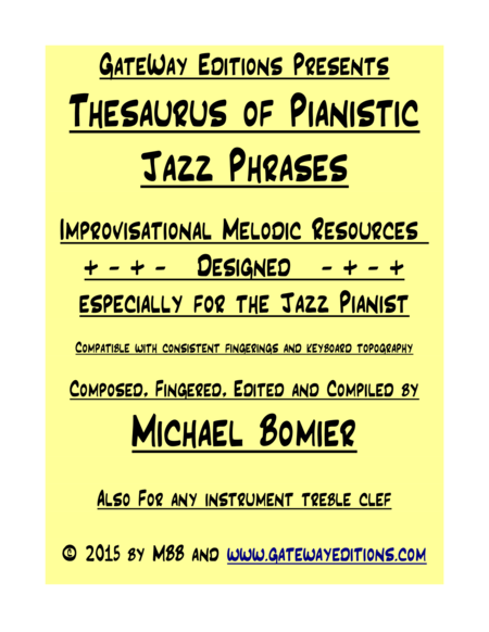 Thesaurus of Pianistic Jazz Phrases