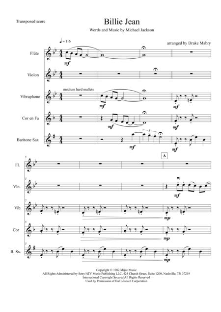 Billie Jean (Mixed ensemble)