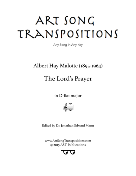 The Lord's Prayer (D-flat major)