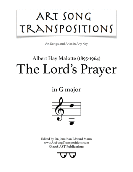 The Lord's Prayer (G major)