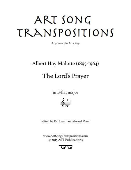 The Lord's Prayer (B-flat major)
