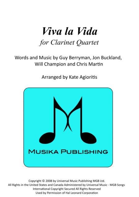 Viva La Vida - for Clarinet Quartet