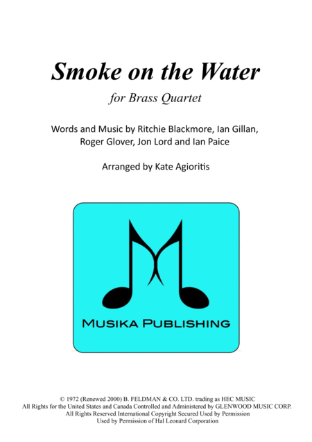 Smoke on the Water - for Brass Quartet