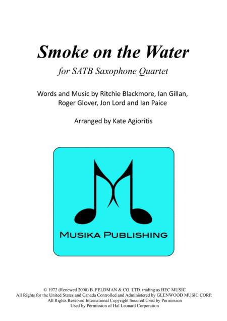 Smoke on the Water - for SATB Saxophone Quartet