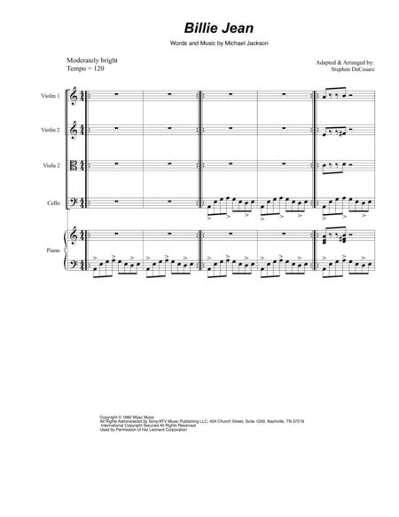 Billie Jean (for String Quintet)