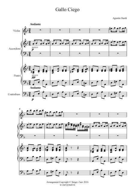 Gallo Ciego (Quartet)