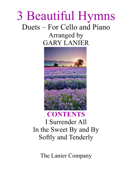 Gary Lanier: 3 BEAUTIFUL HYMNS (Duets for Cello & Piano)