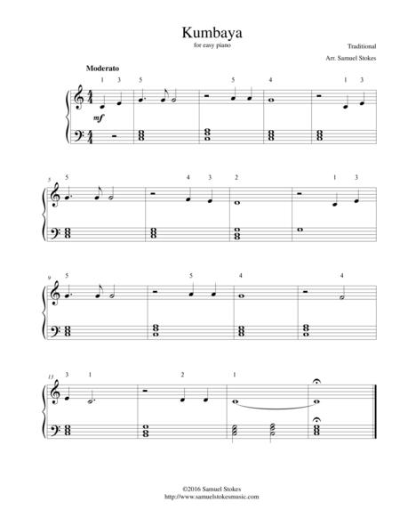 Kumbaya - for easy piano