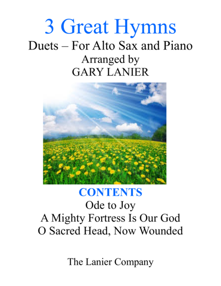 Gary Lanier: 3 GREAT HYMNS (Duets for Alto Sax & Piano)
