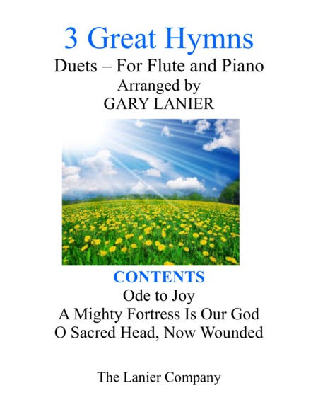Gary Lanier: 3 GREAT HYMNS (Duets for Flute & Piano)