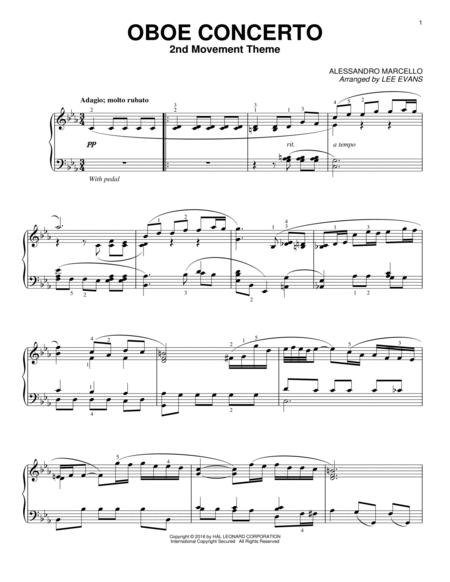 Oboe Concerto In C Minor, 2nd Movement