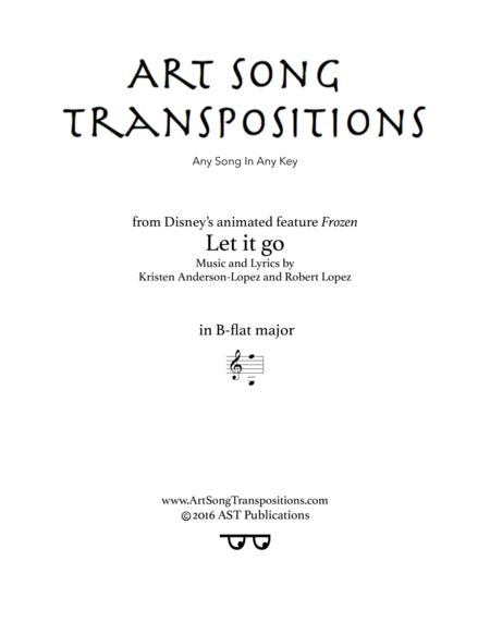 Let it go (B-flat major)
