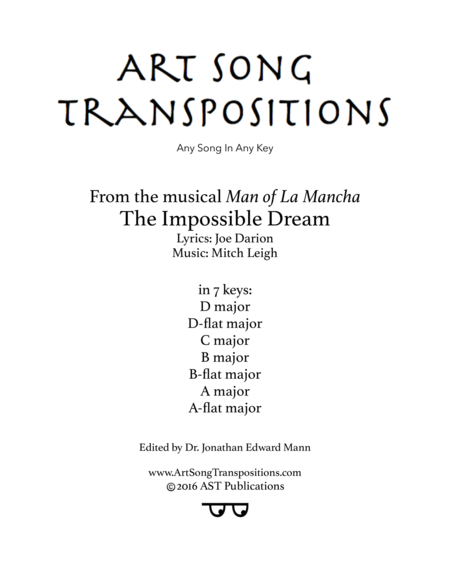 The Impossible Dream (in 7 keys)