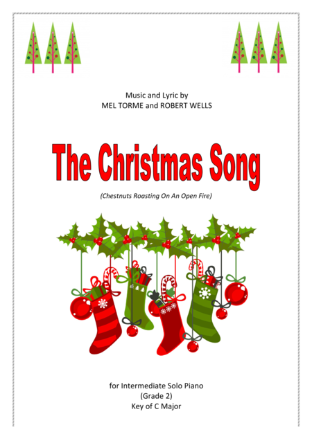 The Christmas Song, intermediate piano solo, C major