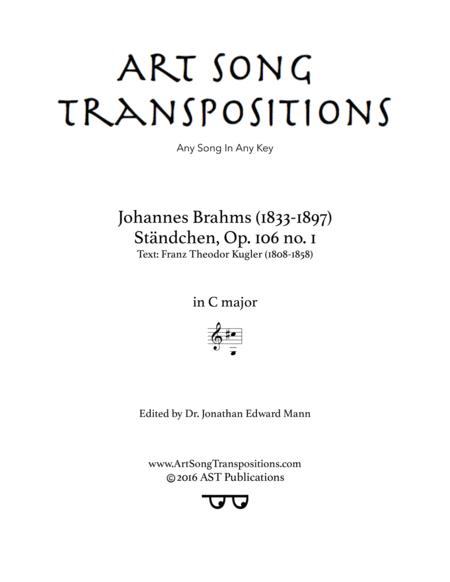 Ständchen, Op. 106 no. 1 (C major)