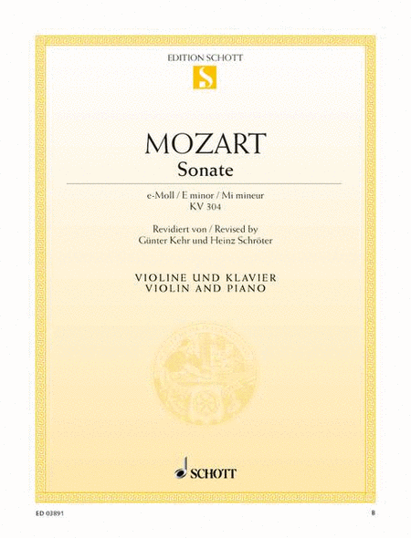 Sonata E minor, K. 304