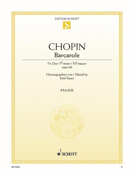 Barcarole F-sharp major, Op. 60