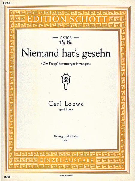 Niemand hat's gesehn, Op. 9 X No. 4