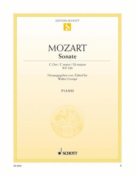 Sonata C major, K. 330