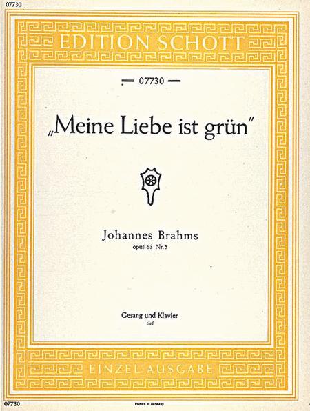 Meine Liebe ist grun, Op. 63/5