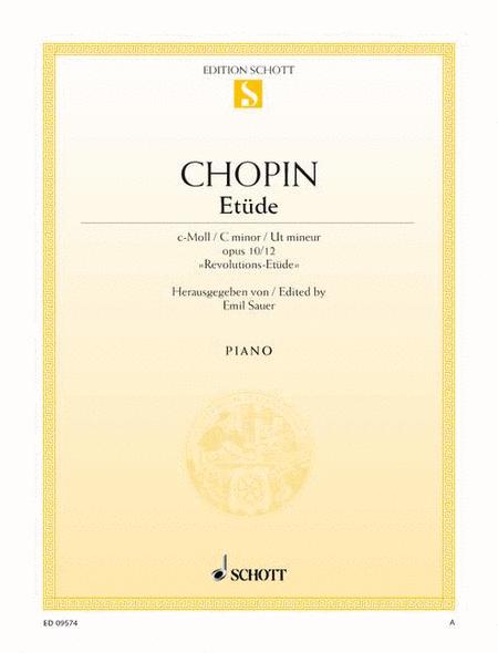 Etude C minor, Op. 10/12