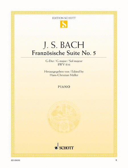 French Suite No. 5 G major, BWV 816
