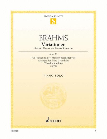 Variations on a theme by Robert Schumann, Op. 23