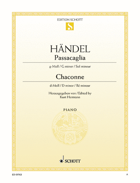 Passacaglia G minor / Chaconne D minor