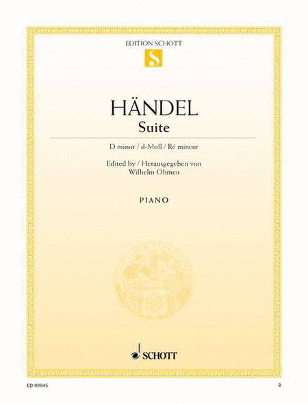 Suite D minor, HWV 437 (HHA II/4 - Walsh 1733 No. 4)
